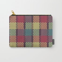 Faux Retro Gingham Carry-All Pouch