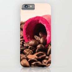 Red horn on coffee 2 iPhone 6s Slim Case