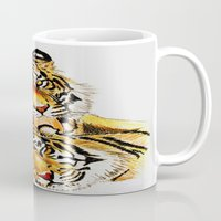 tigers Mugs featuring Tigers by DrewzDesignz