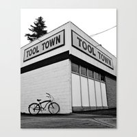 tool Canvas Prints featuring Tool Town by Vorona Photography