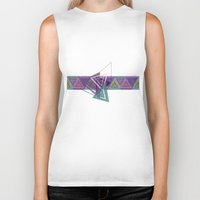 triangles Biker Tanks featuring Triangles by gretzky