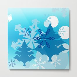 Winter Tree Holiday Metal Print