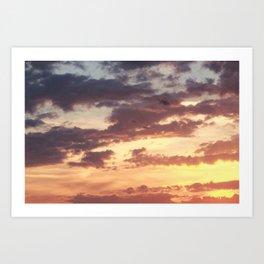 Pastel Summer Sunset Art Print