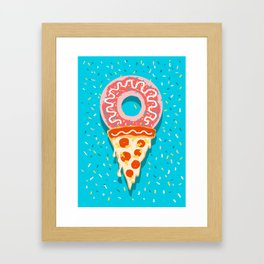I Love Ice Cream Framed Art Print