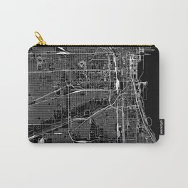Chicago Black Map Carry-All Pouch