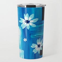Abstract Daisies Travel Mug