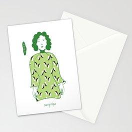 Cheongsam illustration surprised Stationery Cards