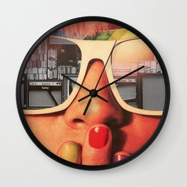 Retro Girl Wall Clock