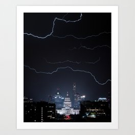 Austin thunderstorm Art Print