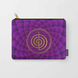 Gold Choku Rei Symbol on lotus Carry-All Pouch