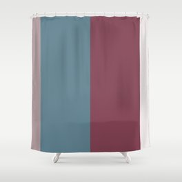 Parable to Behr Blueprint Color of the Year and Accent Colors Vertical Stripes 6 Shower Curtain
