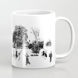 city view from window in 1898 vintage Victorian Coffee Mug