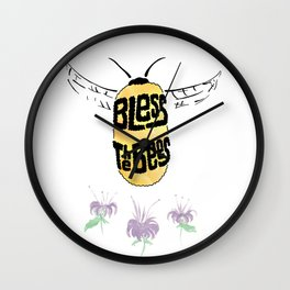 Bless the Bees Wall Clock
