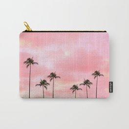 Palm Trees Photography | Hot Pink Sunset Carry-All Pouch