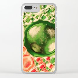 Bubles green Clear iPhone Case
