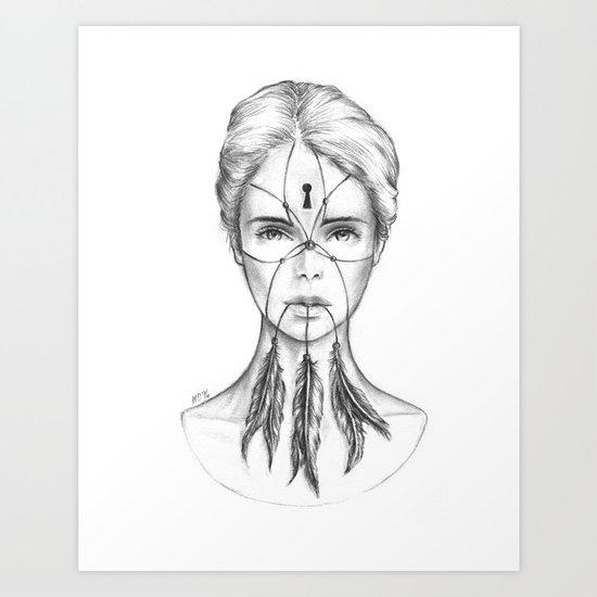 Dreamkeeper (B/W) Art Print