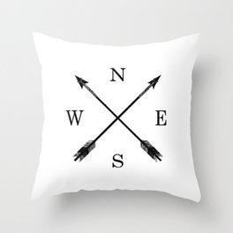 Arrows NSEW Throw Pillow
