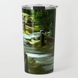 Moss gardern path Travel Mug