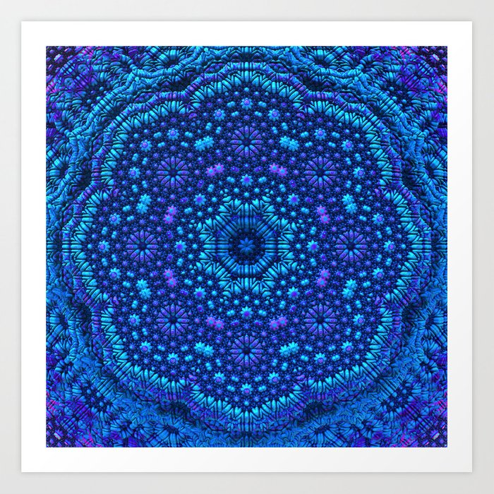 Mandala by Moonlight Art Print