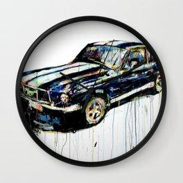 Detroit Mustang Wall Clock