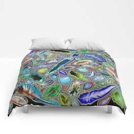 Feathers of birds of the world Comforters