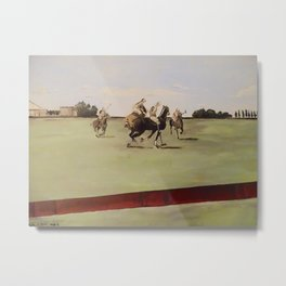 Hamptons Polo Metal Print