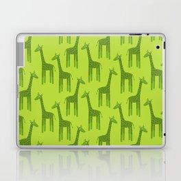 Giraffes-Green Laptop & iPad Skin