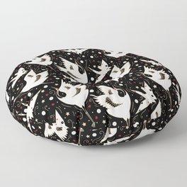 Origami Crane Metamorphosis (Noir) Floor Pillow
