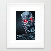 terminator Framed Art Prints featuring Terminator by LynxArtCollection