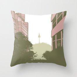Seoul Tower Throw Pillow