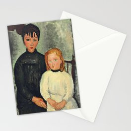 """Amedeo Modigliani """"Les deux filles"""" Stationery Cards"""