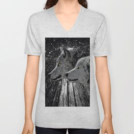 WOLF ENCOUNTER #2 Unisex V-Neck