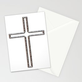 Chrome Crucifix Hollow Stationery Cards