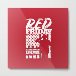 Red Friday American Military Soldier Metal Print