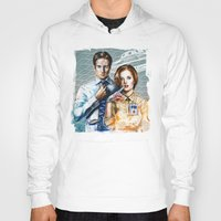 mulder Hoodies featuring Mulder and Scully by Tatiana Anor