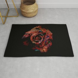 Fluid Nature - Marbled Red Rose Rug