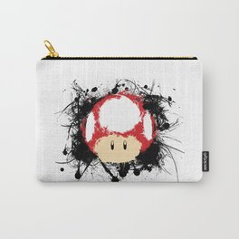 Abstract Paint Splatter Super Mushroom Carry-All Pouch