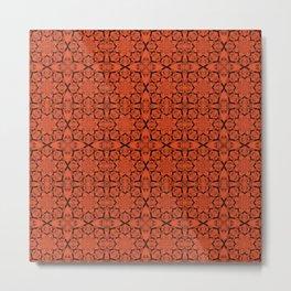 Flame Geometric Metal Print