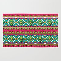 aztec Area & Throw Rugs featuring Aztec by Shelly Bremmer