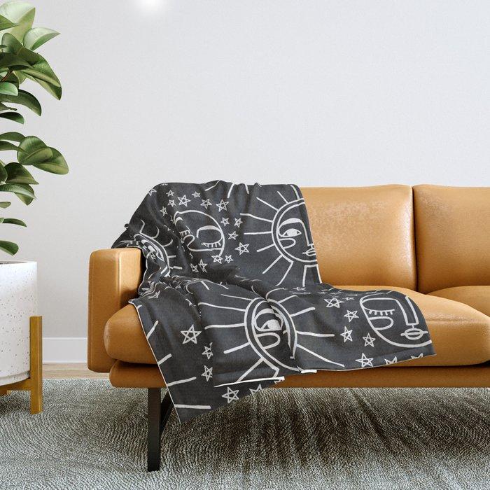 Sun and Moon Pattern Throw Blanket