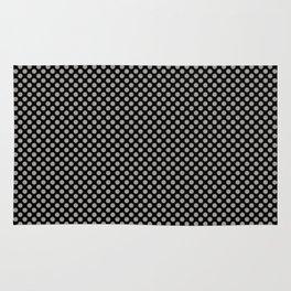 Black and Paloma Polka Dots Rug