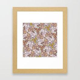 Pig Duck Sheep Escher Trio Framed Art Print