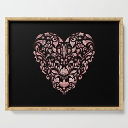 Ornate Heart Serving Tray
