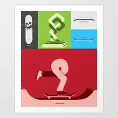 Skateboarding is an idea. Art Print
