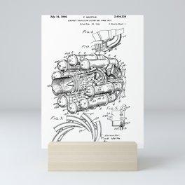 Jet Engine: Frank Whittle Turbojet Engine Patent Mini Art Print