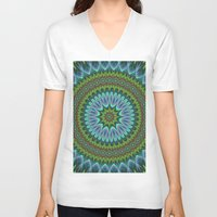 mandala V-neck T-shirts featuring Mandala by David Zydd