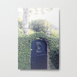 Charleston Black Garden Gate Metal Print