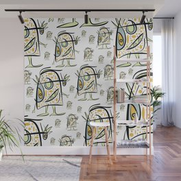 Scribbehead_Shower Curtin Wall Mural