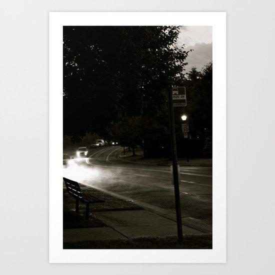 A Modern Foggy Night Art Print