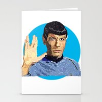 spock Stationery Cards featuring Spock by Connor Corbett